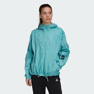 adidas W.N.D. Primeblue Hooded Jacket Size Small